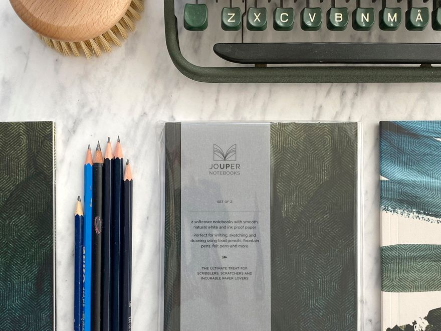 Jouper Notebooks Tweed and Brush_Petrol